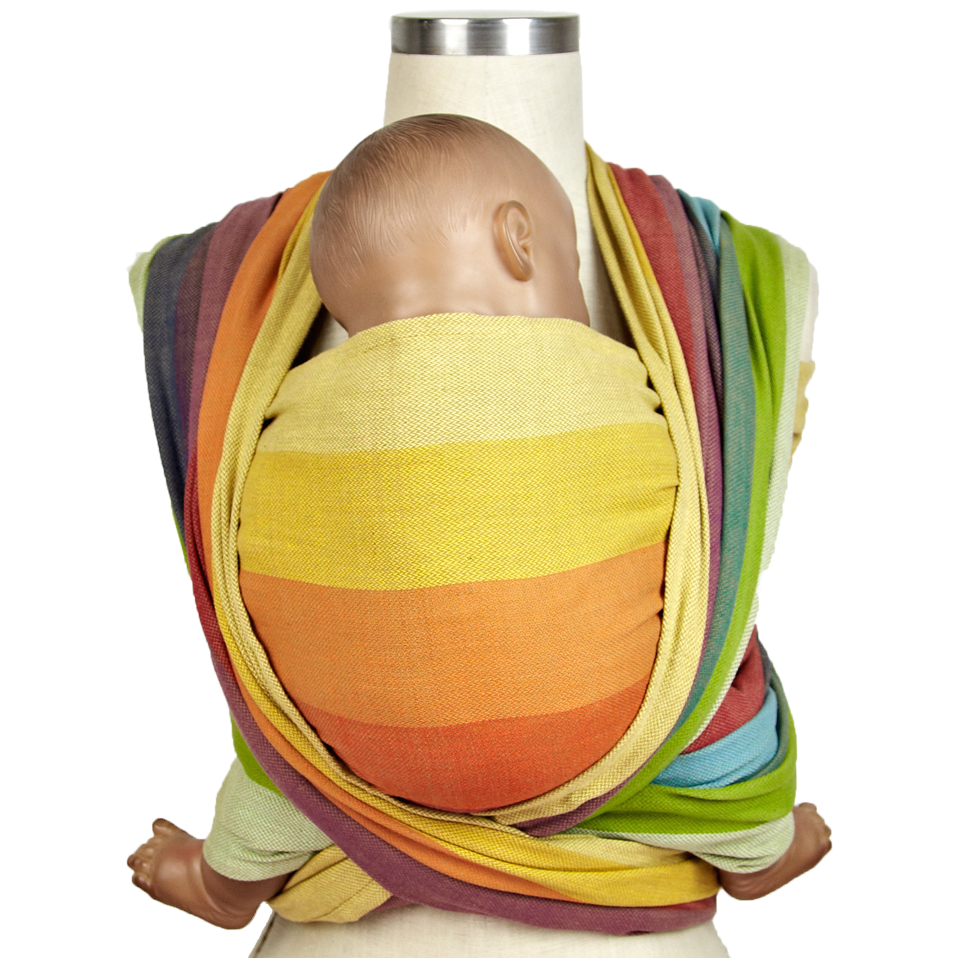 Girasol Woven Wrap Baby Carrier - Bronze Rainbow