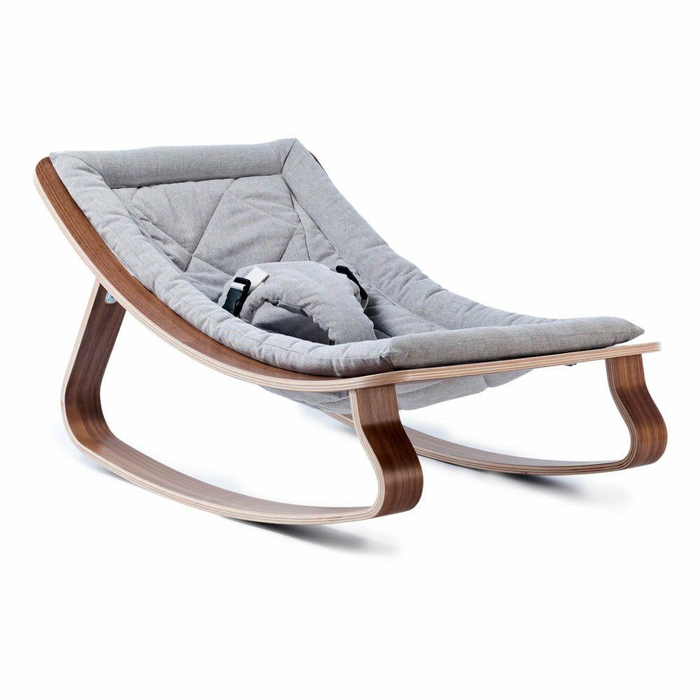 Charlie Crane Baby Rocker Levo - Sweet Grey/Walnut