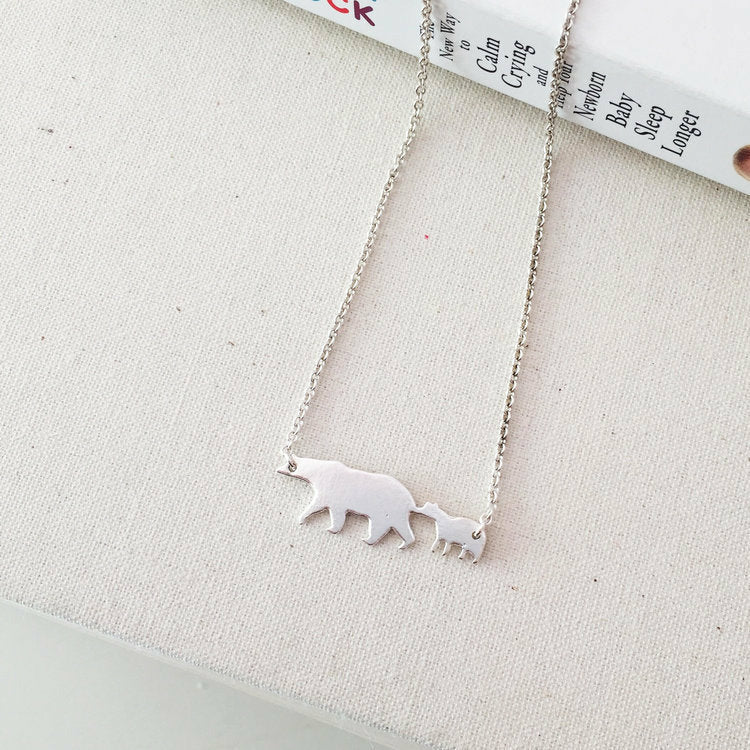 Sophia Faye Jewelry - Bear with 1 Baby Necklace