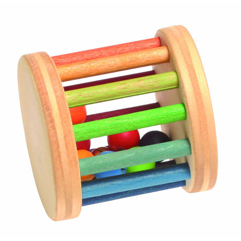 Grimm's Toys Mini Rainbow Rolling Wheel with Bells