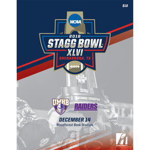 2018 NCAA Division III Football Championship Stagg Bowl Program