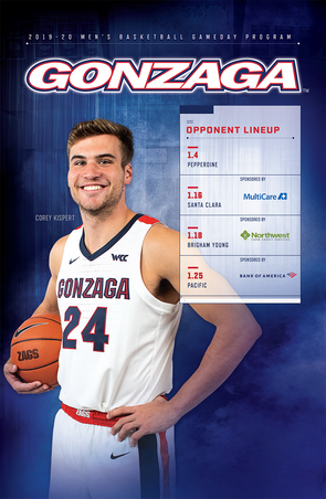 2019-20 Gonzaga Gameday Program (1.4-1.25)