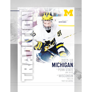 2017-18 Michigan Hockey Gameday Program vs. Penn State and Wisconsin