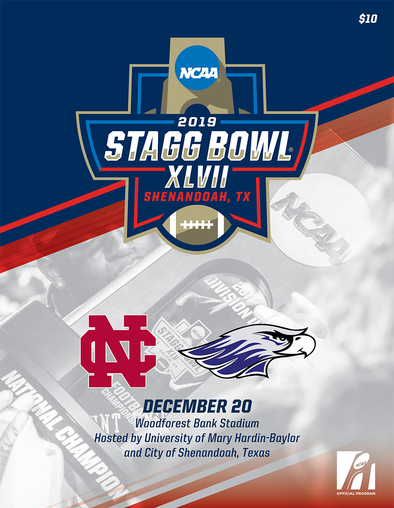 2019 NCAA Division III Football Championship Stagg Bowl Program