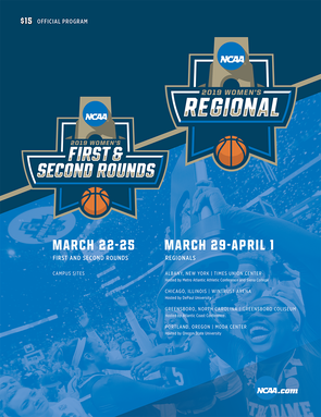 2019 NCAA DI Women's Preliminary and Regional rounds Programs