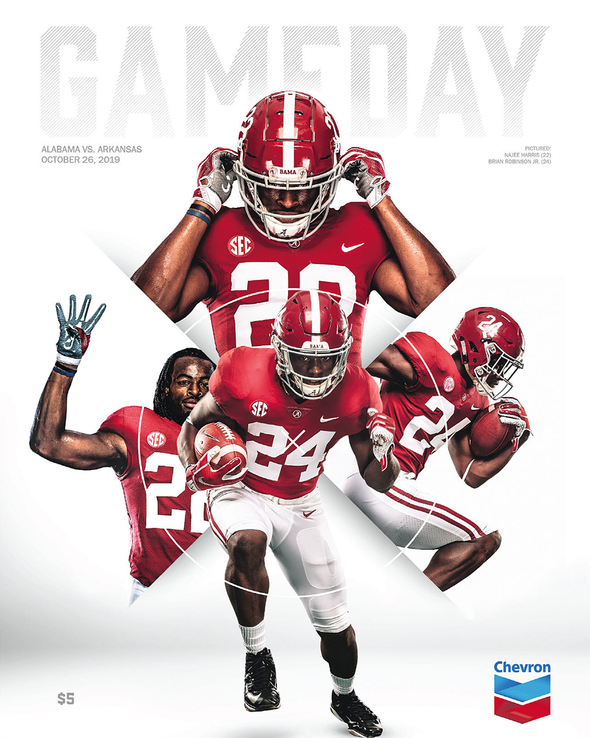 2019 Alabama Football Gameday Program vs Arkansas