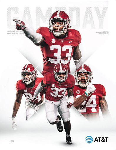 2019 Alabama Football Gameday Program vs LSU