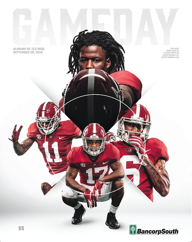 2019 Alabama Football Gameday Program vs Ole Miss