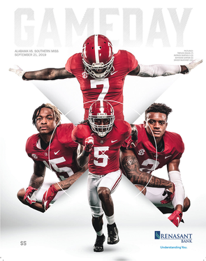 2019 Alabama Football Gameday Program vs Southern Miss