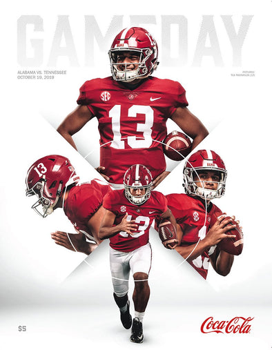 2019 Alabama Football Gameday Program vs Tennessee