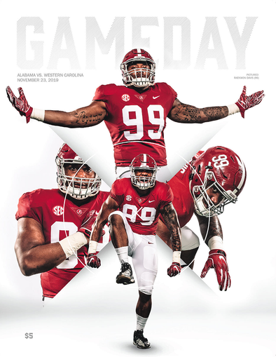2019 Alabama Football Gameday Program vs Western Carolina