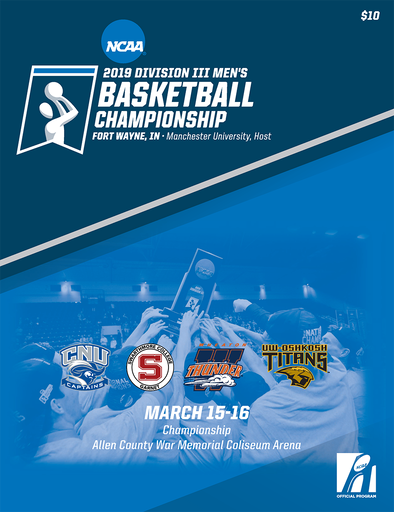 2019 NCAA Division III Men's Basketball Championship Tournament Program