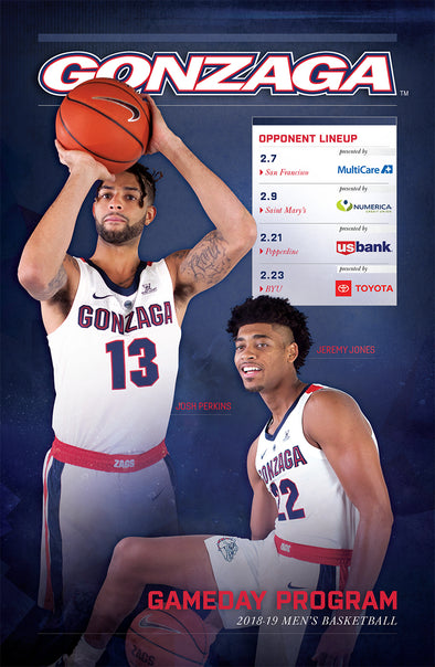 2018-19 Gonzaga Gameday Program (2.7-2.23)