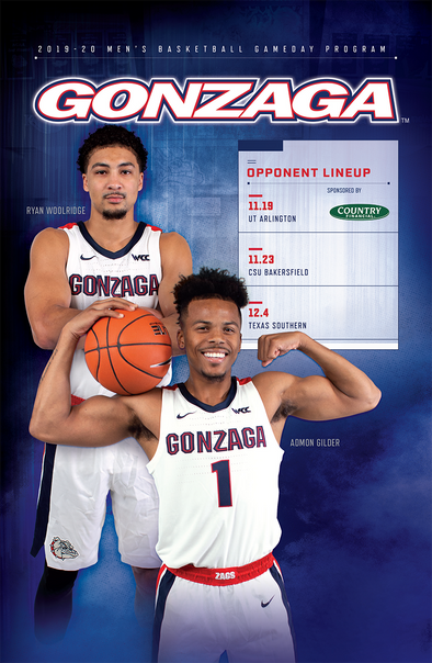2019-20 Gonzaga Gameday Program (11.19-12.4)