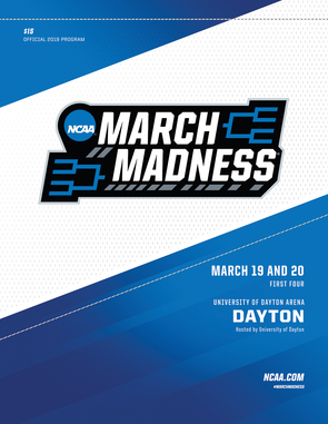 2019 NCAA Division I Men's Basketball Tournament Preliminary Rounds Programs (Select Cover)