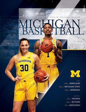 2018-19 Michigan Basketball Official Program (2.14-3.3)