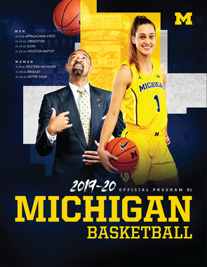 2019-20 Michigan Basketball Program Nov. 23