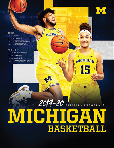2019-20 Michigan Basketball Program Dec. 29