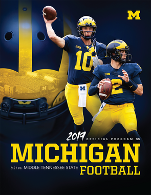 2019 Michigan Football Program vs. Middle Tennessee State
