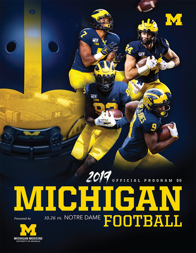 2019 Michigan Football Program vs. Notre Dame