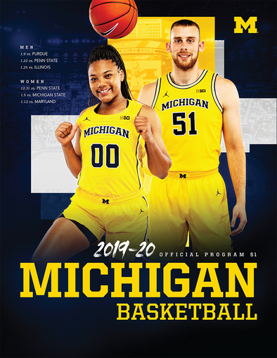 2019-20 Michigan Basketball Program Jan. 25