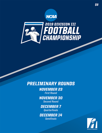 2019 NCAA Division III Football Championship Preliminary Rounds Program