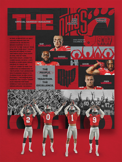 2019 Ohio State Football Official Gameday Program vs. Cincinnati