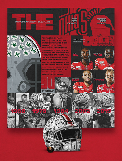 2019 Ohio State Football Official Gameday Program vs. Michigan State