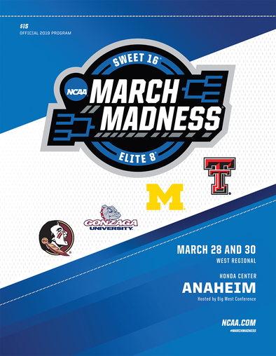 2019 NCAA Men's Basketball Tournament Regional Program