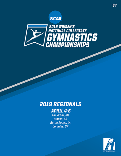 2019  NCAA Women's National Gymnastics Championships Regionals Program