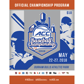 2018 ACC Official Baseball Championship Program