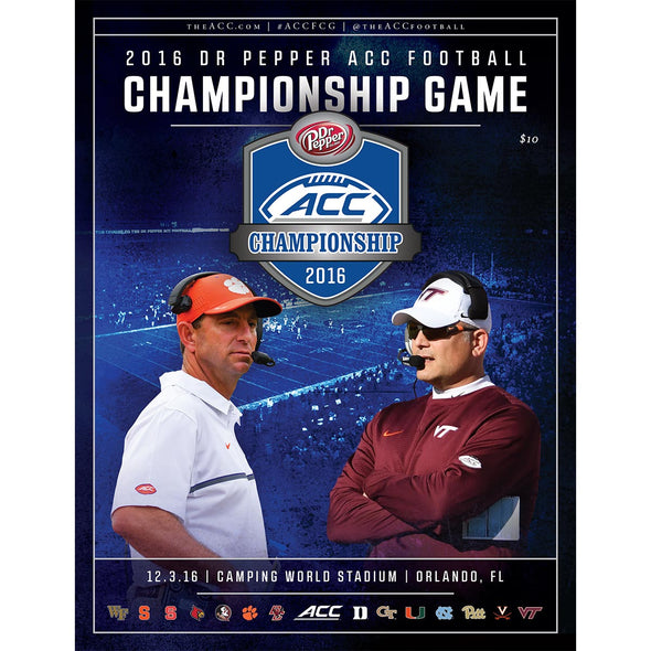 2016 ACC Dr Pepper Football Championship Game Official Program