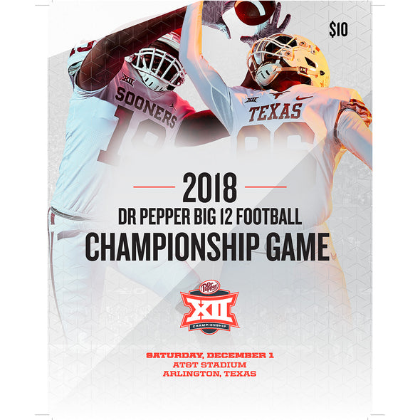 2018 Dr Pepper Big 12 Football Championship Game Program
