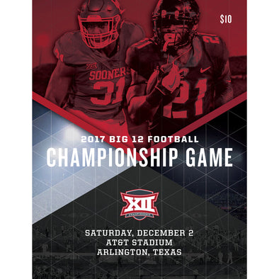 2017 Big 12 Football Championship Game Program