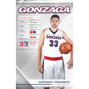 2017-18 Gonzaga Men's Basketball Gameday Program (November 29-December 18)