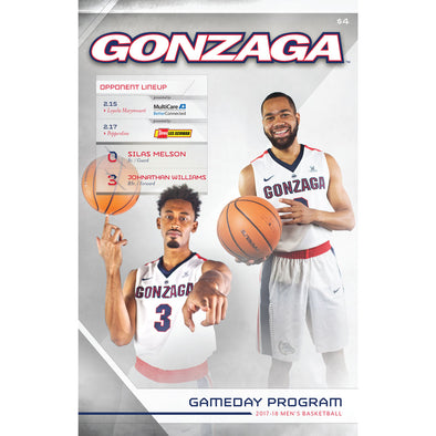 2017-18 Gonzaga Men's Basketball Gameday Program (February 15-February 17)