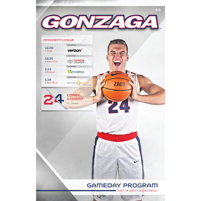 2017-18 Gonzaga Men's Basketball Gameday Program (December 28-January 18)