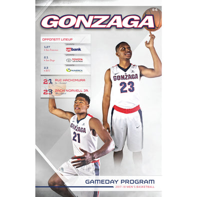 2017-18 Gonzaga Men's Basketball Gameday Program (January 27-February 3)