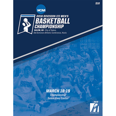 2016 Division III Men's Basketball Championship Program