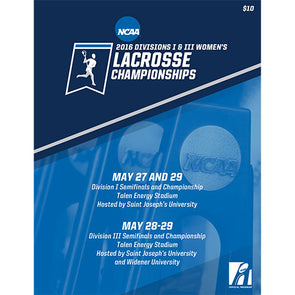 2016 NCAA Divisions I and III Women's Lacrosse Championship Program