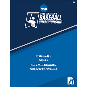 2016 NCAA Division I Baseball Regionals and Super Regionals Program