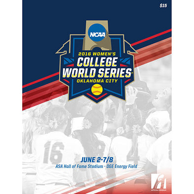 2016 NCAA Women's College Softball World Series Program