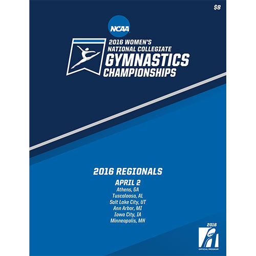 2016 NCAA National Collegiate Women's Gymnastics Regionals Program