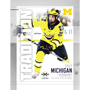 2017 Michigan Hockey Program vs. Vermont