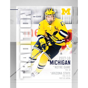 2017-18 Michigan Hockey Gameday program vs. Notre Dame and Arizona State