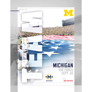 2017 Michigan Football Gameday Program vs. Air Force
