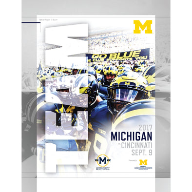 2017 Michigan Football Gameday Program vs. Cincinnati