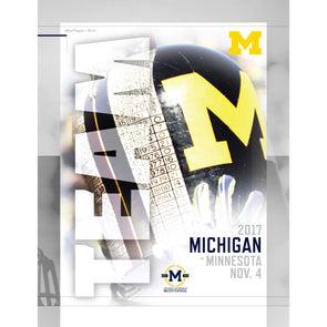 2017 Michigan Football Gameday Program vs. Minnesota