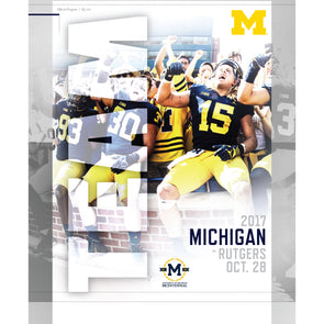 2017 Michigan Football Program vs. Rutgers