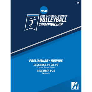 2016 NCAA Division I Women's Volleyball Championship Early Rounds Program